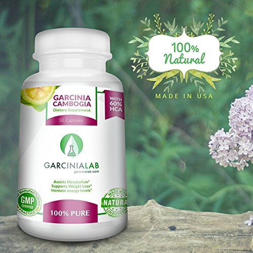 Garcinia Cambogia Extract 100% Pure Weight Loss Supplement 60% HCA1000 MG USA Made