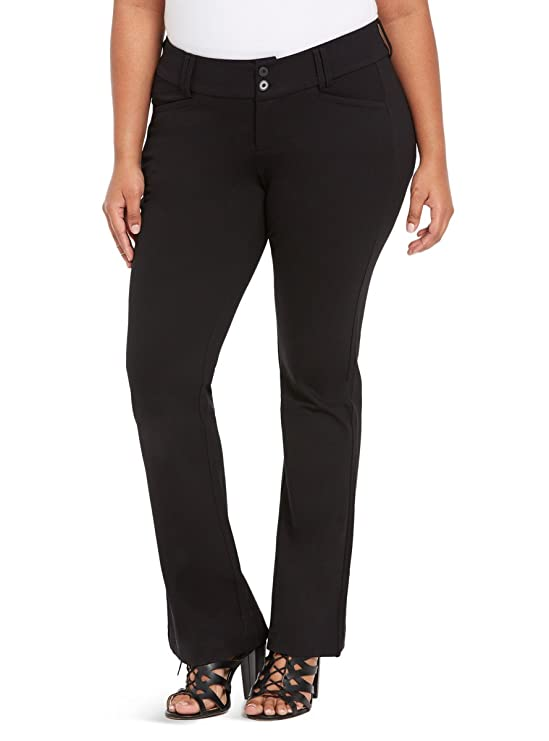 b524123b062 Amazon.com  Torrid Trouser Pant - Black All-Nighter Ponte  Clothing