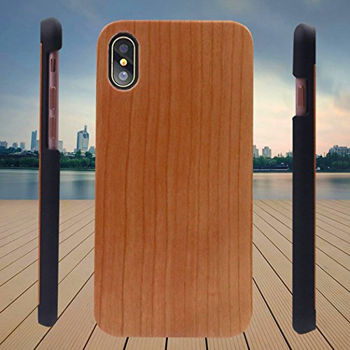 Bangcool Carcasa Samsung Galaxy S6 Edge Guay Teléfono Cubrir Caja de Teléfono de Madera para Samsung Galaxy S6 Edge Khaki