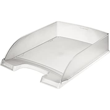 Leitz 52270003 Poliestireno Transparente - Bandeja de escritorio (Poliestireno, Transparente, A4, Sobre