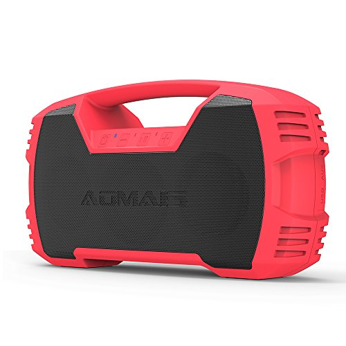 AOMAIS GO Bluetooth Speakers,Waterproof Portable Indoor/Outdoor 30W Wireless Stereo Pairing Booming Bass Speaker,30-Hour Playtime with 7200mAh Power Bank,Durable for Pool Party,Beach,Camping(Red) by AOMAIS