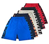 American Legend Mens Active Athletic Performance Shorts - Set 4-5 Pack, L