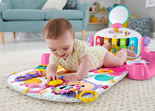 51BkjIJh iL - Fisher-Price Deluxe Kick 'n Play Piano Gym, Pink