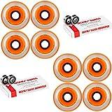 Labeda Millennium Gripper Orange Hockey Inline Wheels 80mm SOFT 8 Pack Swiss
