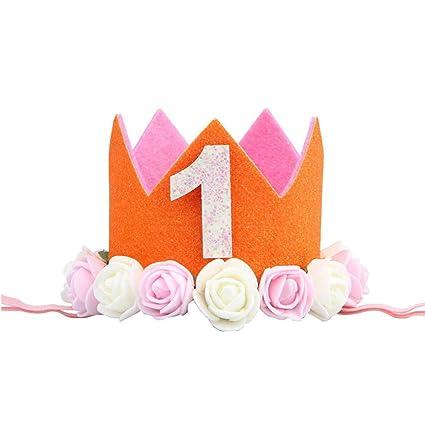 CAOLATOR.Banda de Bebé de 1 Año Pelo de Cumpleaños Diadema ...