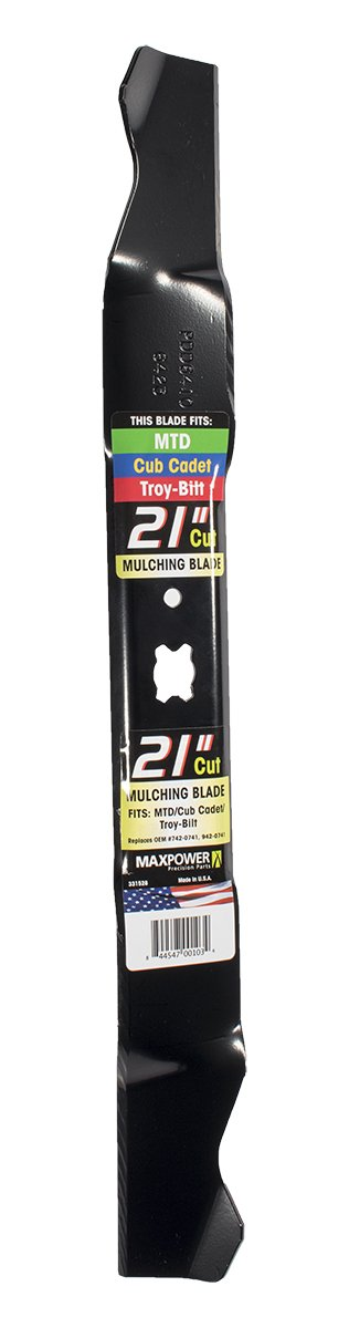 Maxpower 331528S Mulching Blade for 21 Inch Cut MTD/Cub Cadet/Troy-Bilt Replaces 742-04100, 742-0741, 742-0741A, 942-0741, 942-0741A by Maxpower