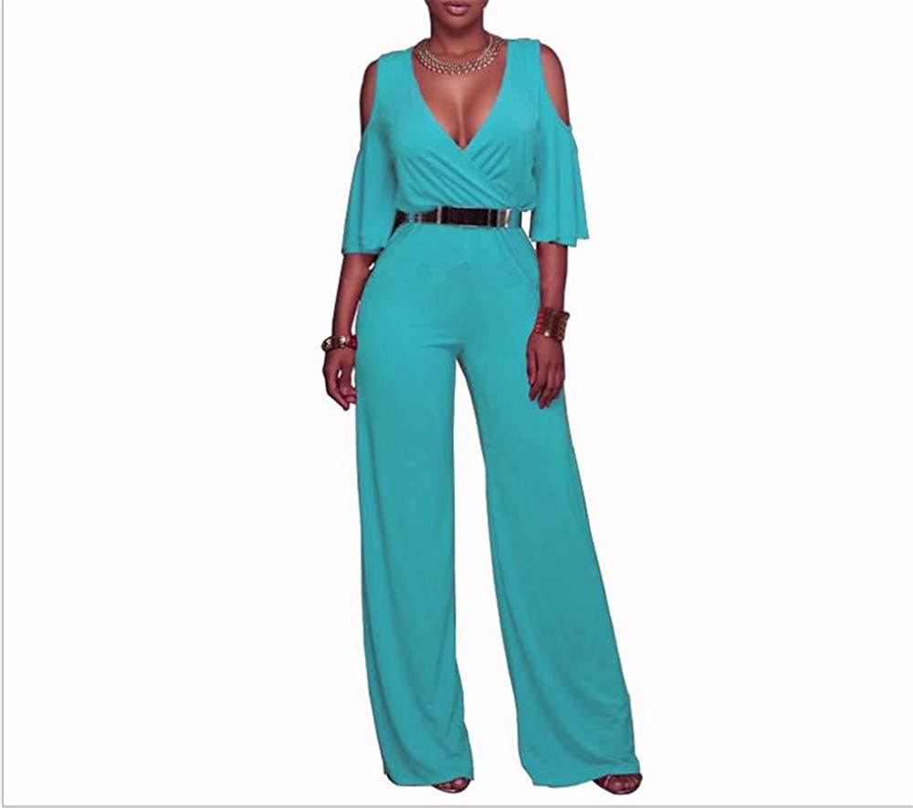 bluee MIKA HOM Women's Sexy Onesies Bodycon Jumpsuits Romper Bodysuits Outfit