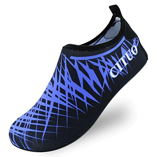 SENFI leichte Quick-Dry Wasser Schuhe für Wassersport Strand Pool Camp (Männer, Frauen, Kinder) X.blau