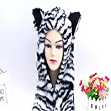 GLYBYCA Animals tiger hat scarf, gloves,3 In 1 Function