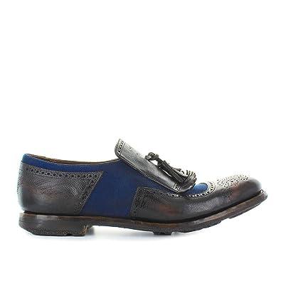 Zapatos de Hombre Mocasín Shanghai 11 Ebony Azul Churchs Primavera Verano 2018