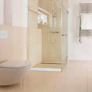 Umbral plegable Presa Presa Tira de ducha flexible impermeable Sellado de barrera de agua (100cm / 120cm / 150cm): Amazon.es: Hogar