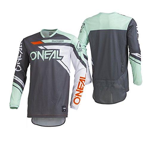O'Neal Men's Hardwear Rizer Jersey (Gray/Mint, Small) -