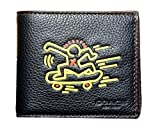 COACH X Keith Haring 3 in 1 Compact ID Leather Passcase Bifold Wallet in Black 87103