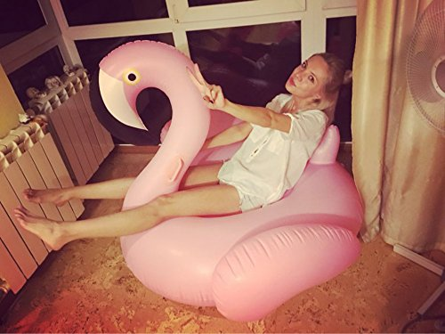 Veslagy 150CM 60Inch Rose Gold Inflatable Flamingo Pool Float Pool Swimming Float Swimming Ring Flamingo Float Boia Piscina Pool Party Pink Flamingo