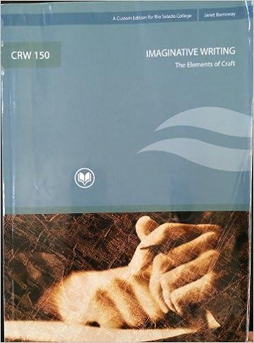 CRW 150 Imaginative Writing the Elements of Craft: Janet Burroway ...