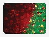 ziHeadwear Bathroom Bath Rug Kitchen Floor Mat Carpet,Country Home Decor,Vintage Bouquet Corsage Willow Lilies Hyacinths Muscari Botanical Bridal,Multicolor,Flannel Microfiber Non-slip Soft Absorbent