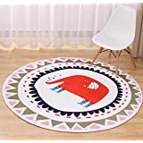 Multi-sized Cartoon Animal Round Carpet Area Floor Rug Doormat LivebyCare Entrance Entry Way Front Door Mat Ground Rugs for Parlour Halloween Party Hotel