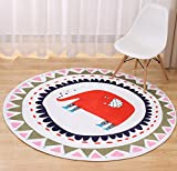 LivebyCare Multi-Size Cartoon Animal Round Carpet Area Floor Rug Doormat Entrance Entry Way Front Door Mat Ground Rugs for Parlour Halloween Party Hotel