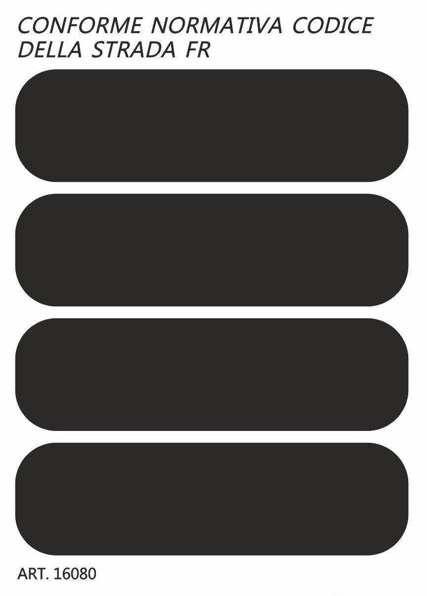 Quattroerre 16081 Kit 4 Adesivi Rifrangenti Riflettenti per Casco Moto Colore Nero
