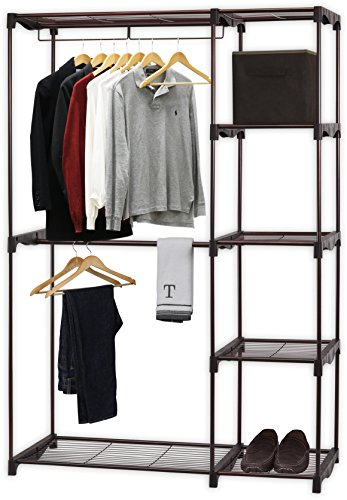 Simple Houseware Freestanding Cloths Garment Organizer Closet, Bronze