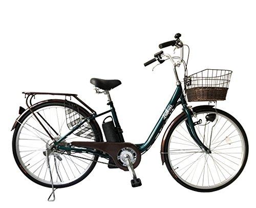 LUPINUS by SUISUI ルピナスバイスイスイ 26インチ電動アシスト自転車 LP-DCY09T シングルギア アシスト切り替え3モード LEDライト B079VKR2G6グリーン