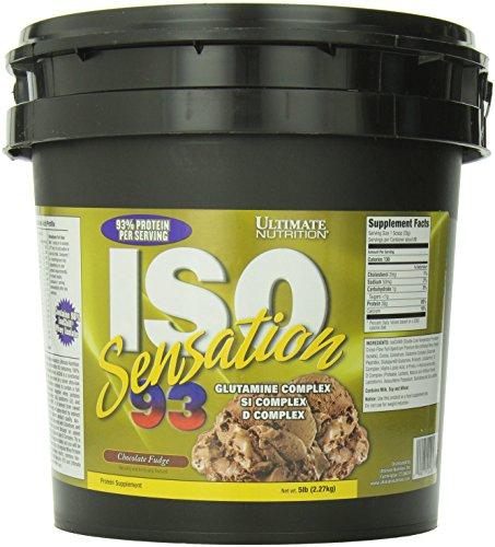 Ultimate Nutrition ISO Sensation 93 Chocolate Fudge 5 Lb Tub