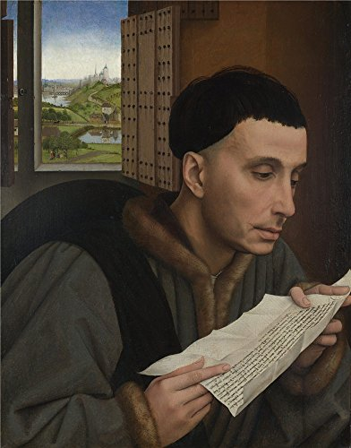 Perfect Effect Canvas ,the Replica Art DecorativePrints On Canvas Of Oil Painting 'Workshop Of Rogier Van Der Weyden A Man Reading (Saint Ivo) ', 10 X 13 Inch / 25 X 32 Cm Is Best For Study Artwork And Home Decor And Gifts