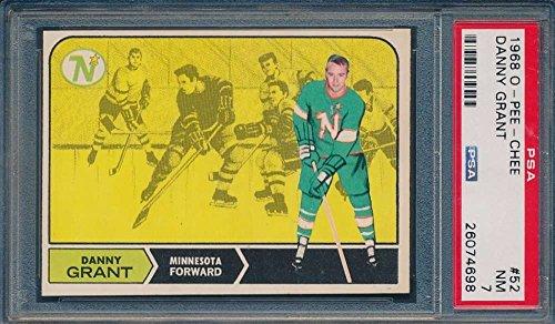 1968 O-Pee-Chee #52 Danny Grant RC Minnesota North Stars PSA 7 NM 38011
