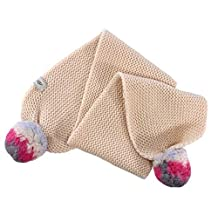 UGG Kids Unisex Knit Scarf w/ Multicolor Poms (Toddler/Little Kids)