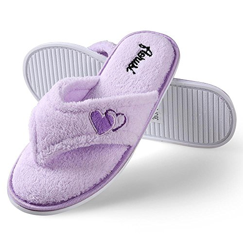 Indoor Soft Classy Slide Slipper Slipper Open Comfy Cute Slippers Spa Aerusi Home Lady's Toe Purple Bedroom Sole nwAq0xXF4v