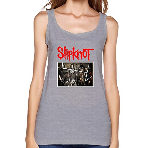 AOPO Summer O-Neck Slipknot Heavy Metal Band Tank Top For Women Small (Corey Taylor Slipknot Mask Sale)