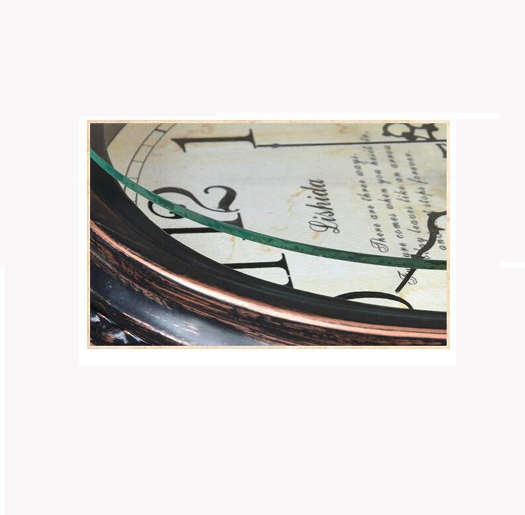 Amazon.com : Family Fireplace Clocks Retro Mute Desktop Clock ó n European Style Quartz Clock and Wrought Iron Desk Clock Suitable for Living Room Office ...
