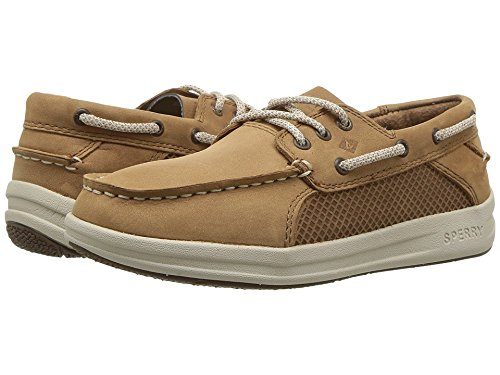 SPERRY Boys' Gamefish Boat Shoe, Dark Tan, 6 Medium US Big Kid