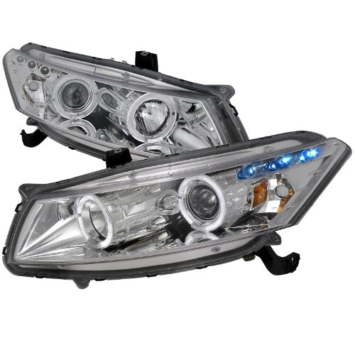 (Velocity Concepts For Honda Accord Dual Halo Led Chrome 2Dr Coupe Projector Headlights)