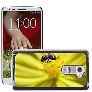 Hot Style Cell Phone PC Hard Case Cover // M00109169 Bee Tiny Bee Nectar Flower Nature // LG G2 D800 D802 D802TA D803 VS980 LS980