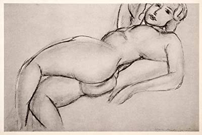 1969 Photolithograph Matisse Nude Girl Lying Down Naked Female Reclining Art - Orig. Photo-Lithograph