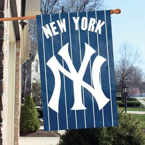 Party Animal Official Major League Baseball Fan Shop Authentic MLB Team Sports Man Cave Flag - Banner (New York Yankees)