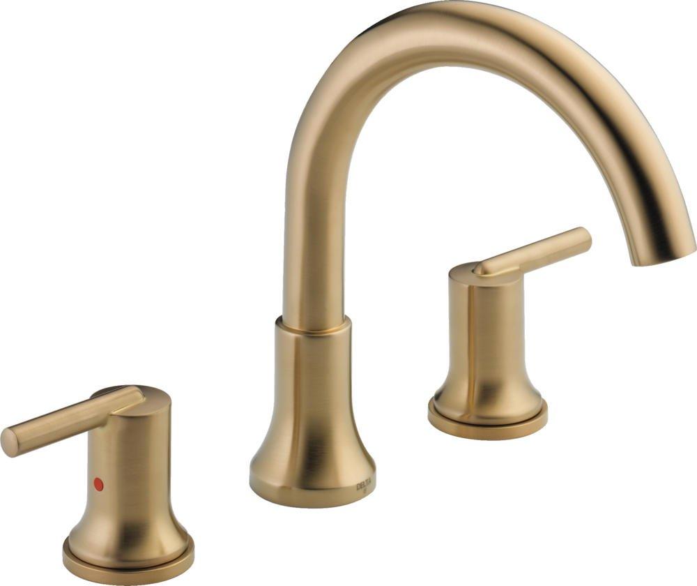 Delta Faucet T2759-CZ Trinsic, 3-hole Roman Tub Trim, Champagne Bronze by DELTA FAUCET