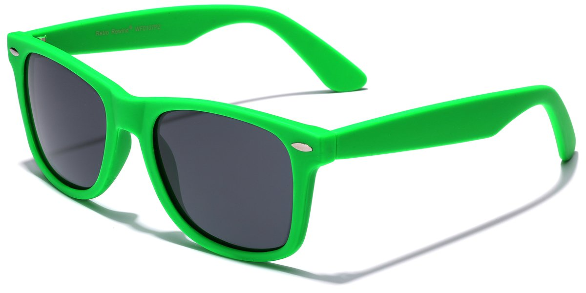 Retro Rewind Classic Polarized Sunglasses,Green | Smoke Polarized by Retro Rewind