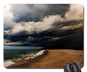 on the beach after a storm Mouse Pad, Mousepad (Beaches Mouse Pad, 10.2 x 8.3 x 0.12 inches)