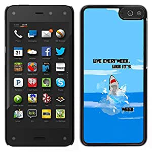 Impact Case Cover with Art Pattern Designs FOR Amazon Fire Phone Week Ocean Funny Cartoon Blue Betty shop
