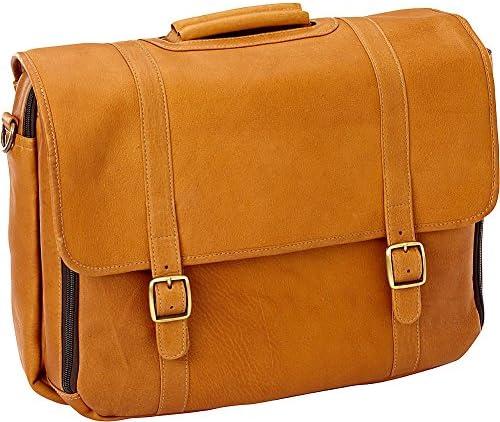 Vachetta Tan 1981-VACHETTATN Clava Leather Gusset Laptop Briefcase