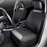 Motor Trend M314 Two Tone Black/Gray Cloth Polyester Protector Car Seat Covers for Premium Interior Comfort: more info