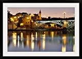 GreatBIGCanvas ''Puente Isabel II (Puente de Triana), Seville, Spain'' Photographic Print with Black Frame, 36'' x 24''