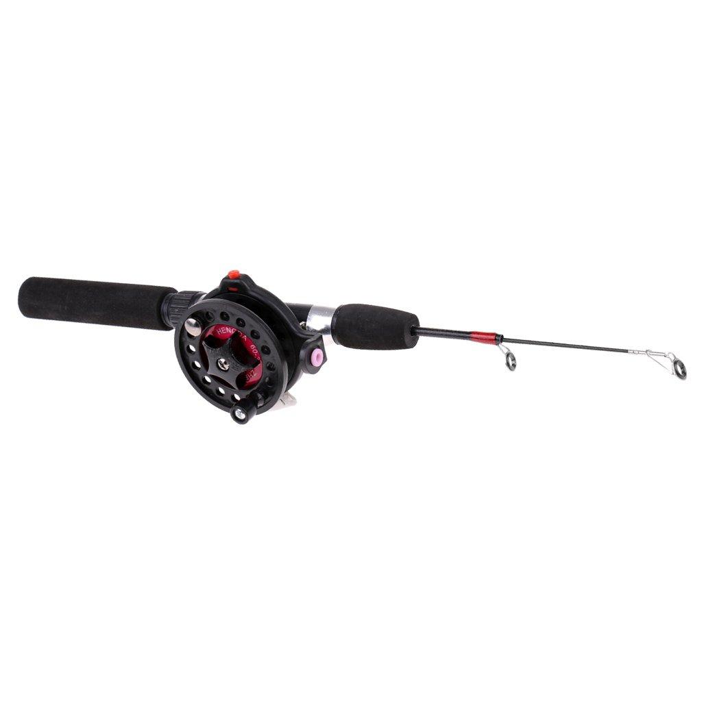 Reel Spinning Combo Fishing Tackle Tool Dolity Mini Telescopic Ice Fishing Rod