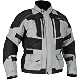 Firstgear Men's Kathmandu Black with Dark Gray Jacket, XL - Tall