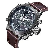 Man, quartz watch, fashion, personality, outdoor, PU leather, W0124