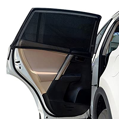 Car Side Window Sunshades, iTavah Universal Fit Double Layer Full Cover Sunshades for Baby Sun Protection, 2 Piece