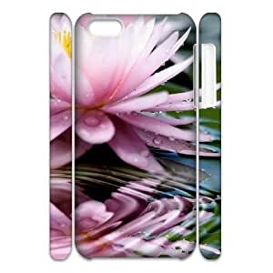 Cell phone 3D Bumper Plastic Case Of Water Lily For iPhone 5C by icecream design
