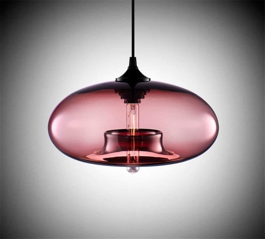 Eeayyygch Glasdeckenleuchte-Leuchter-Moderne Elegante kreative hängende Lampe, Mehrfarbig, 28  15Cm, rot (Farbe   Rot, Größe   -)